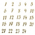 24 Chiffres calendrier avent miroir or