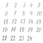 24 Chiffres calendrier avent miroir argent