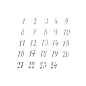 24 chiffres calendrier avent miroir argent maison pratic boutique pour vos loisirs creatifs. Black Bedroom Furniture Sets. Home Design Ideas