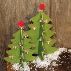 Set de 2 sapins de Noel en feutrine