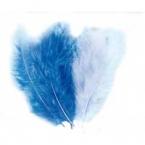 lot de 15 plumes bleu clair et bleu