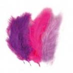 lot de 15 plumes violet fushia