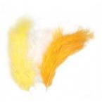 lot de 15 plumes jaune blanc