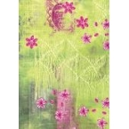 Décopatch papers 384 green and pink