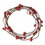 Fil Floral de baies rouge