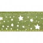 Ruban Organdi Vert étoile
