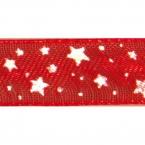 Ruban Organdi Rouge étoile