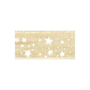 Ruban Organdi Blanc étoile