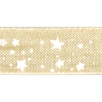 Ruban Organdi Or étoile