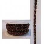 Ruban cordon brun et brillant