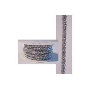 Ruban cordon argent métallisé