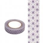 Masking Washi Tape fleur parme