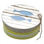 Boite ronde motif poisson