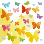serviettage Serviettage envol de papillons multicolores