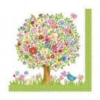 serviettage Serviettage arbre en fleurs