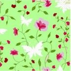 serviettage Serviettage papillons fleurs roses