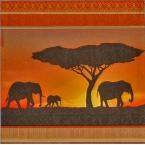 serviettage Serviettage afrique elephants