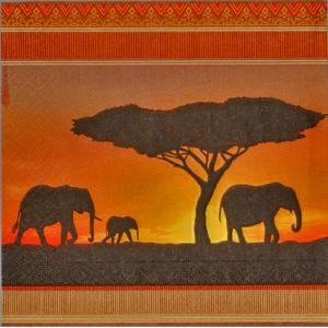 serviettage serviettage afrique elephants maison pratic boutique pour vos loisirs creatifs. Black Bedroom Furniture Sets. Home Design Ideas
