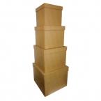 Set de 4 grandes boîtes carrées en carton