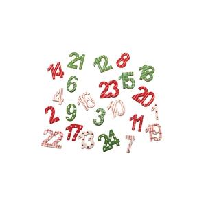 24 chiffres calendrier avent vert rouge maison pratic. Black Bedroom Furniture Sets. Home Design Ideas