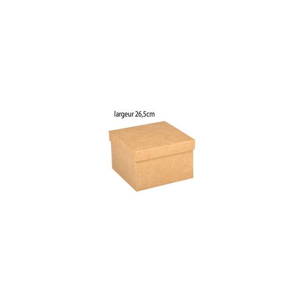 grande bo te carr e en carton xl maison pratic boutique pour vos loisirs creatifs et votre deco. Black Bedroom Furniture Sets. Home Design Ideas