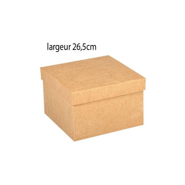 Grande bo te carr e en carton xl maison pratic boutique pour vos loisirs creatifs et votre deco - Boite en carton a decorer ...