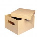 Boîte rectangle en carton avec poignée