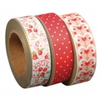 Masking Washi Tape trio rouge saumon