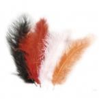 lot de 15 plumes abricot marron