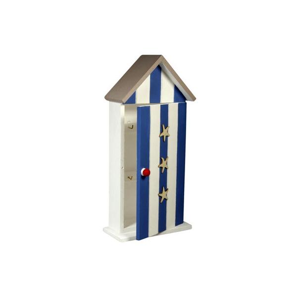 Boite cl s en bois 6 crochets maison pratic boutique pour vos loisirs creatifs et votre deco - Boite a cles bois ...