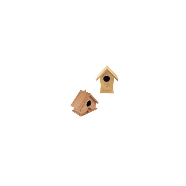 Lot de 2 nichoirs de d coration en bois maison pratic boutique pour vos l - Nichoir en bois a decorer ...