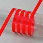 Ruban satin rouge 6mm