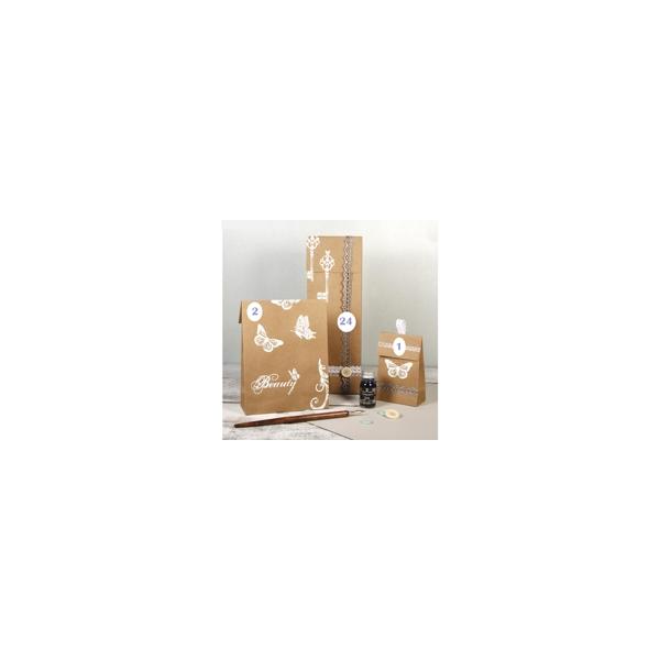 calendrier de l 39 avent pochettes craft maison pratic. Black Bedroom Furniture Sets. Home Design Ideas