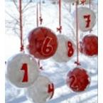 24 boules transparentes pour calendrier de l'avent