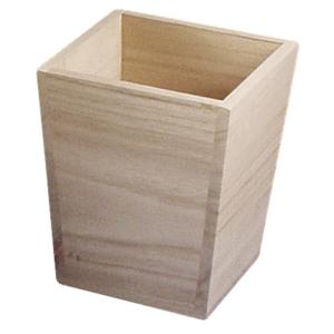 Vase en bois hauteur 16 cm