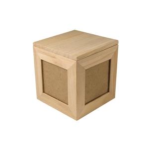 boite bois format cube pour 4 photos. Black Bedroom Furniture Sets. Home Design Ideas