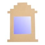 Support cadre miroir pyramide