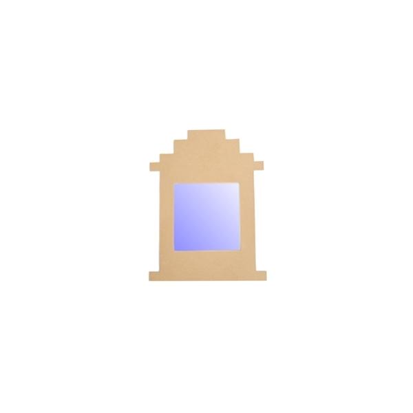 Support cadre miroir pyramide maison pratic boutique for Miroir cadre