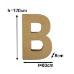 Pappmache Buchstabe B 50cm