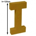 Lettre 3D geante I 120cm