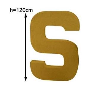 Lettre 3D géante S 120cm - MAISON PRATIC - Boutique pour vos loisirs ...