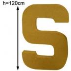 Lettre 3D géante S 120cm