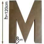 Lettre 3D geante M 120cm
