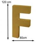 Lettre 3D geante F 120cm