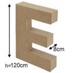 Lettre 3D geante E 120cm