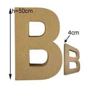 lettre 3d g ante b 50cm en carton maison pratic boutique pour vos loisirs creatifs et votre deco. Black Bedroom Furniture Sets. Home Design Ideas