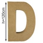 Lettre 3D geante D 120cm
