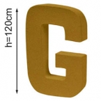 Lettre 3D geante G 120cm