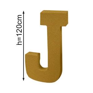 Lettre 3D geante J 120cm