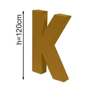 Lettre 3D geante K 120cm